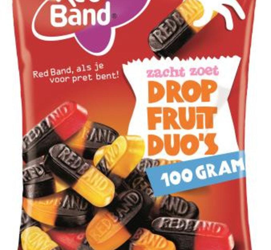 Drop Fruit Duo Red Band 100 Gram Voorverpakt Doos 24 Stuks