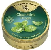 Cavendish & Harvey Clear Mint Drops -Doos 9 blikken