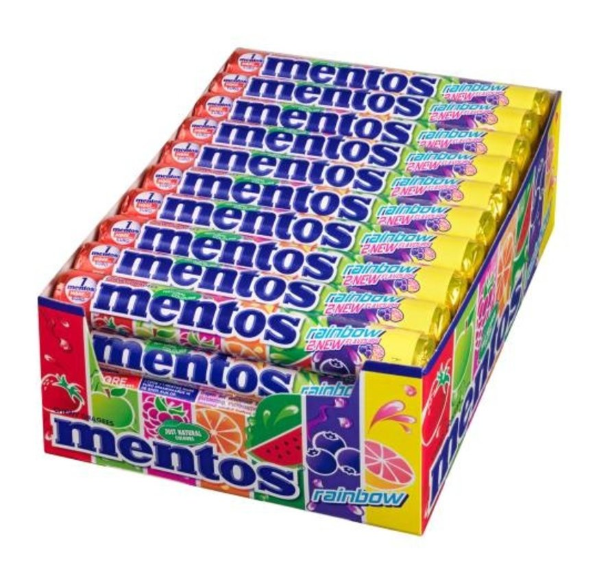 Mentos Rol Rainbow -Doos 40 stuks