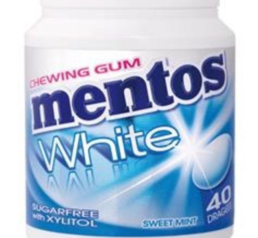 Mentos Bottle White Sweet Mint SUIKERVRIJ -6 potjes