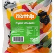 Matthijs English Winegums 400 gram -Doos 20 stuks