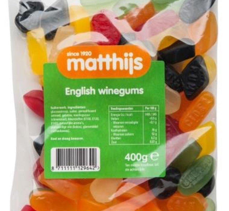 400gr English Winegums -Doos 20 stuks
