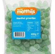 Matthijs Menthol groentjes 400 gram -Doos 20 stuks