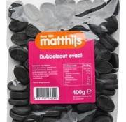 Matthijs Dubbelzout Ovaal 400 gram -Doos 20 stuks