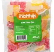 Matthijs Zure Beertjes 400 gram -Doos 20 stuks