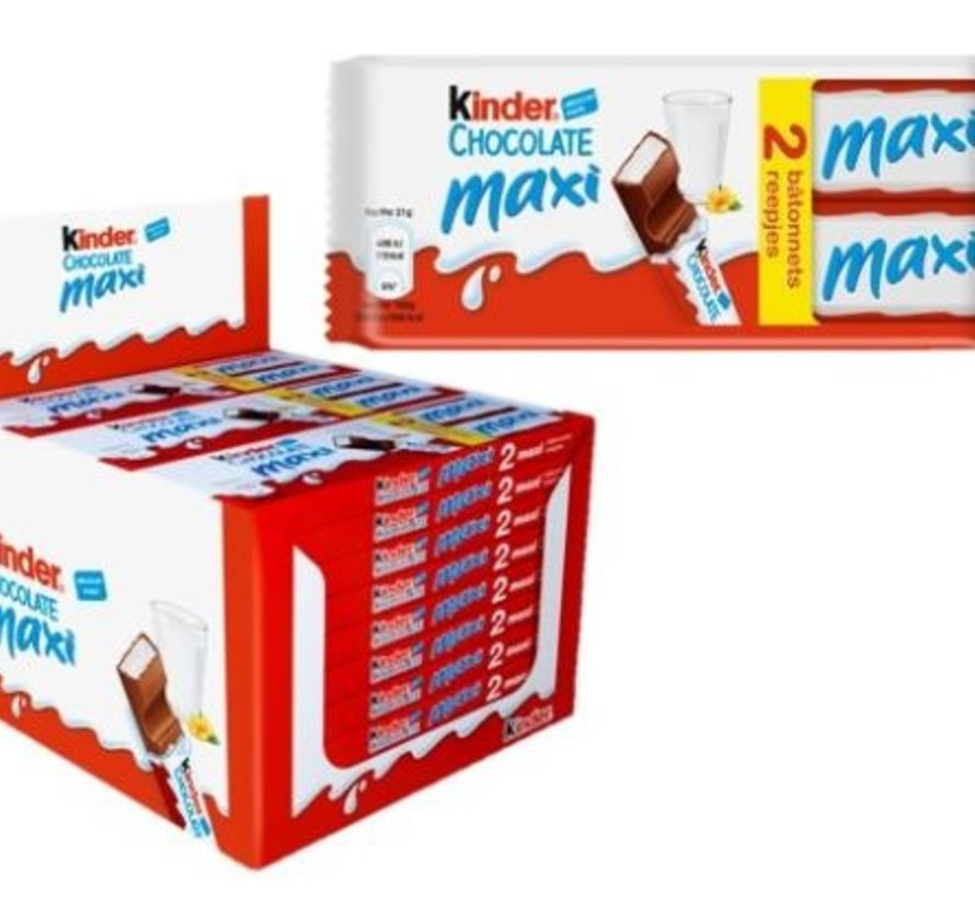 Kinder Maxi Duopack T2 -Doos 24 stuks