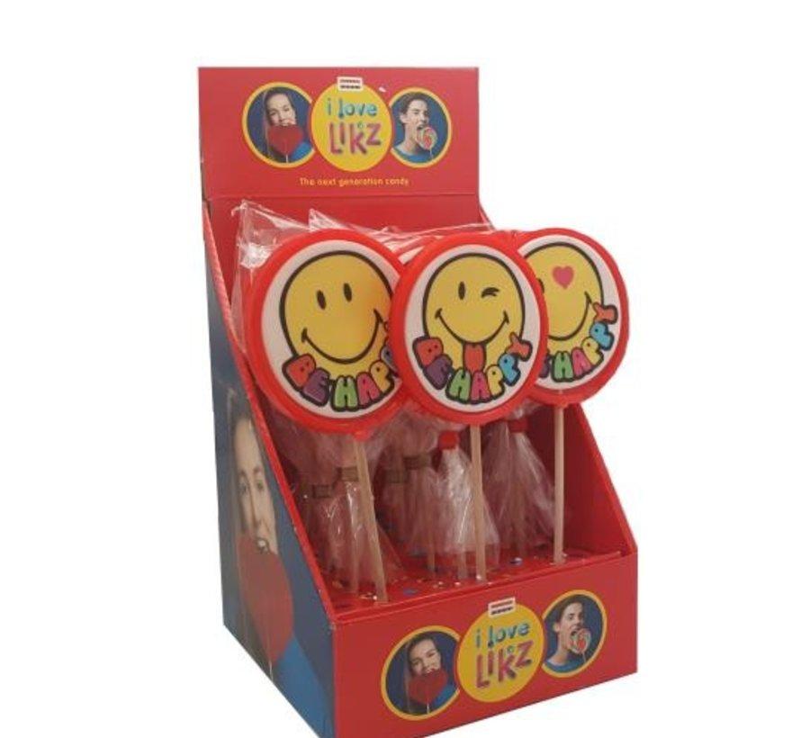 Ronde Lolly Smiley - 100 gram - 17 stuks