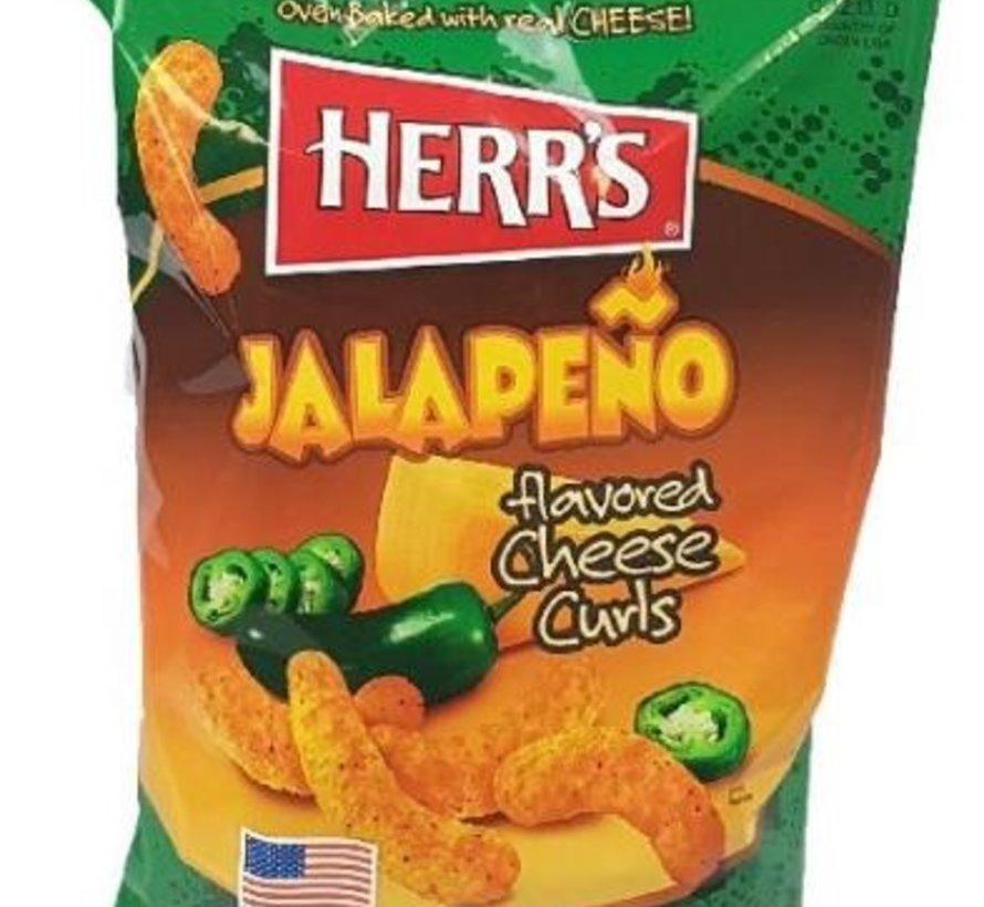 Herr's Jalapeno Cheese Curls -Doos 12x199 gram