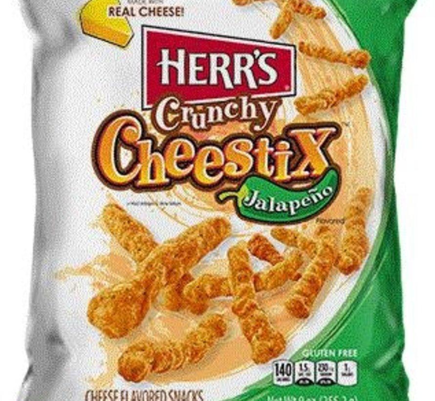 Herr's Jalapeno Crunchy Cheestix -Doos 8x255g