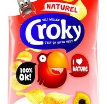 Croky Croky Chips Naturel 40 gram -Doos 20 stuks