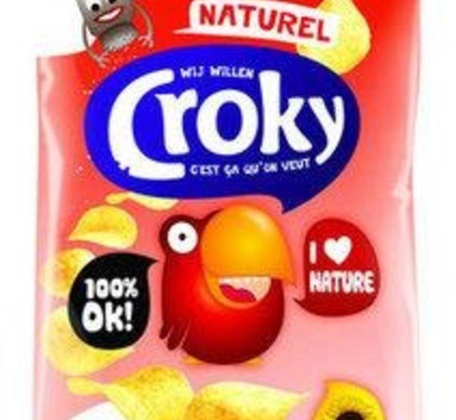 40gr Croky Chips Naturel -Doos 20 stuks