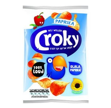 Croky Croky Chips Paprika 40 gram -Doos 20 stuks