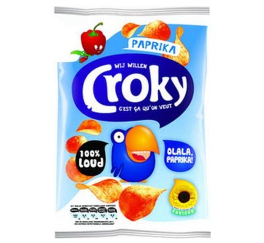 40gr Croky Chips Paprika -Doos 20 stuks