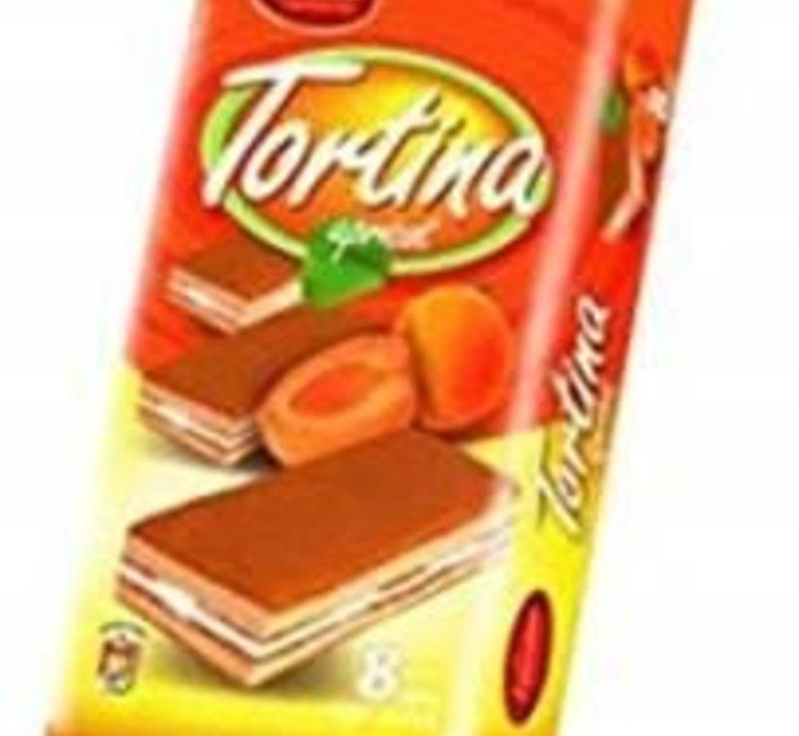 200gr Tortina Abrikoos Cakejes -Doos 12 stuks
