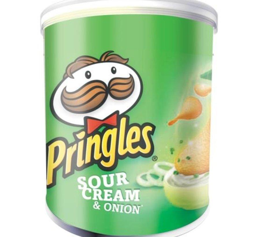 40gr Pringles Sour Cream & Union-Doos 12 stuks