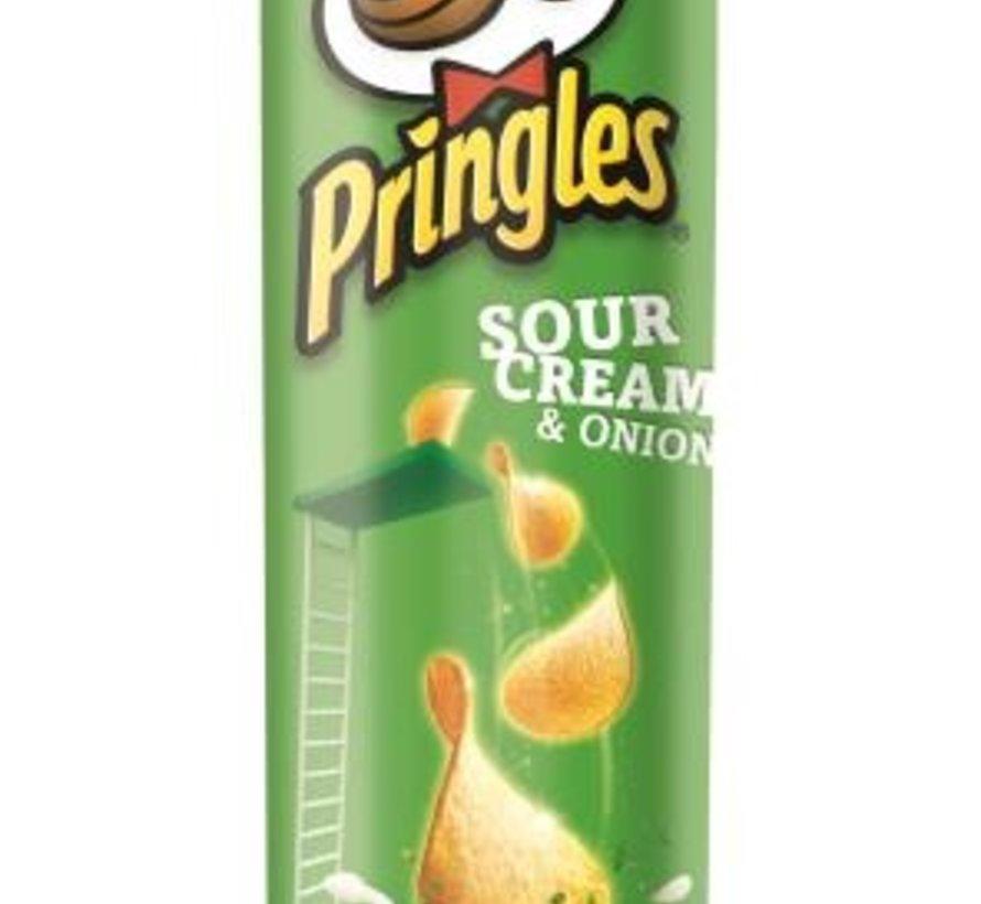 165gr Pringles Sour Cream Union -Doos 19 stuks