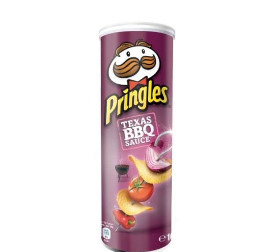 Pringles 165grTexas Bbq Sauce -Doos 19 stuks