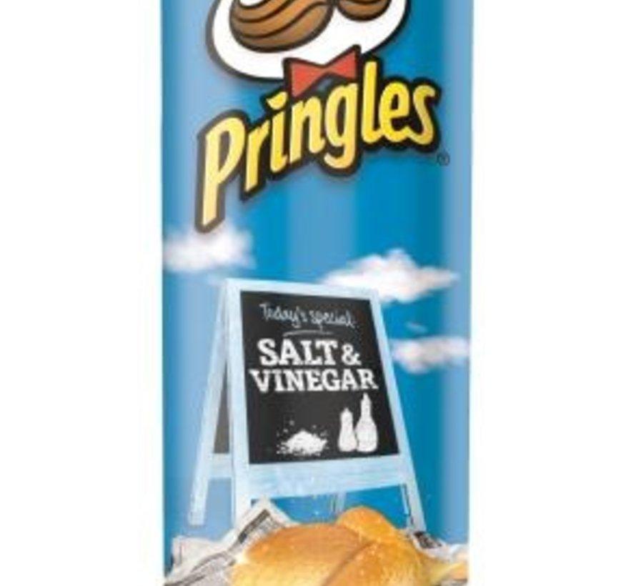 Pringles 165gr Salt&Vinegar -Doos 9 stuks