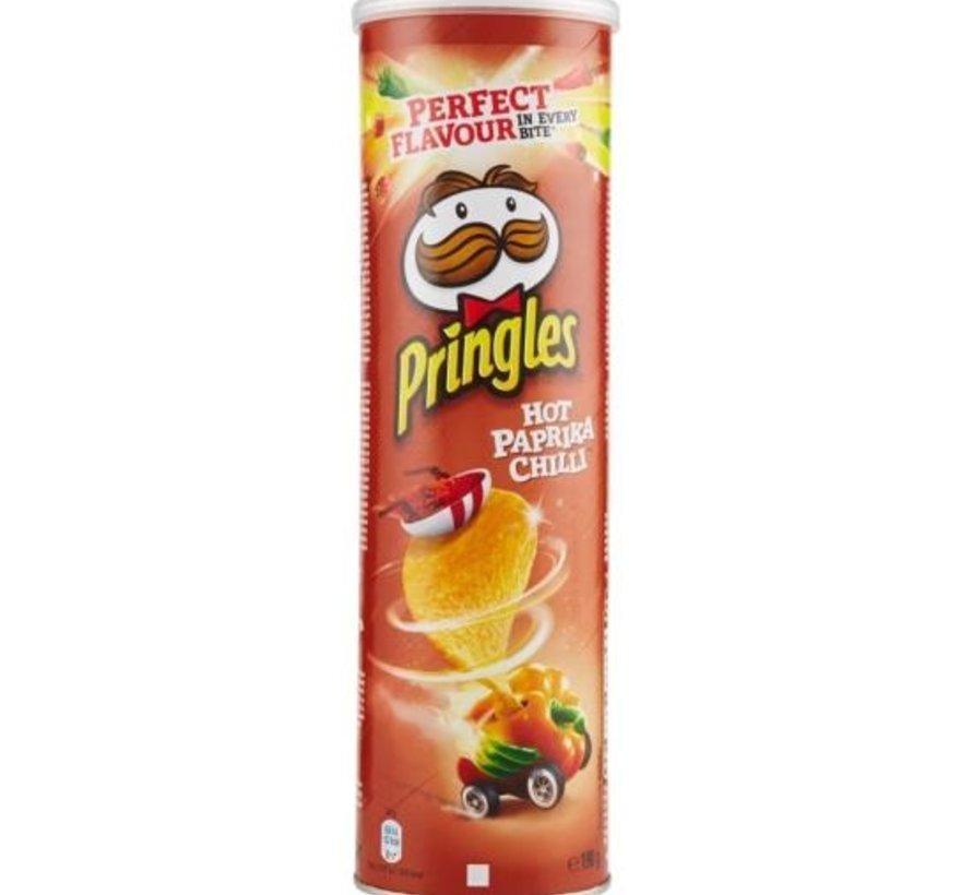 Pringles 165gr Pringl Hot Paprika Chili -Doos 19 stuks