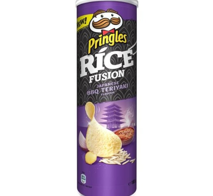 Pringles 160gr Rice Japanes Bbq Teryaki -Doos 9 stuks