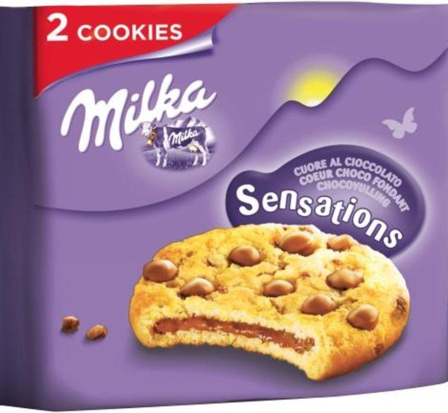 Milka Sensation Cookies 52gr -Doos 24 stuks