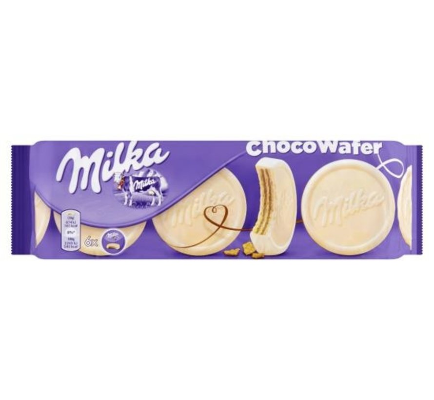 Milka Choco Wafer Wit 180gr -Doos 18 stuks