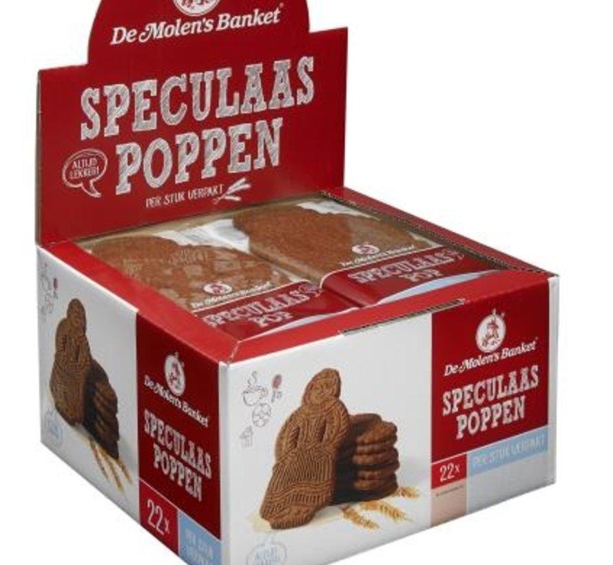 Speculaas Popjes Per Stuk Verp 50gr -Doos 22 stuks