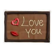Choc & Croc Chocolade 'Love You' 220 gram Wenstablet -Doos 8 stuks