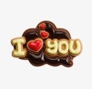 Sweet Talk Chocolade tablet 130gr 'I Love You' -Doos 8 stuks