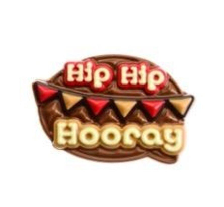 130gr Hip Hip Hooray Melk Tablet -Doos 8 stuks