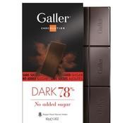 Galler Suikervrije Chocolade  Puur 78% -Doos 10 stuks