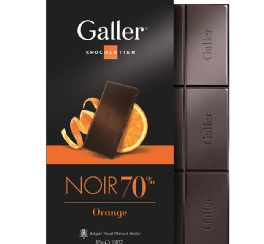 80gr Puur Orange 70% Tablet -Doos 10 stuks