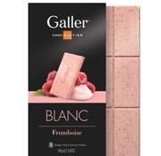 Galler Chocolade Wit Framboos Tablet -Doos 10 stuks