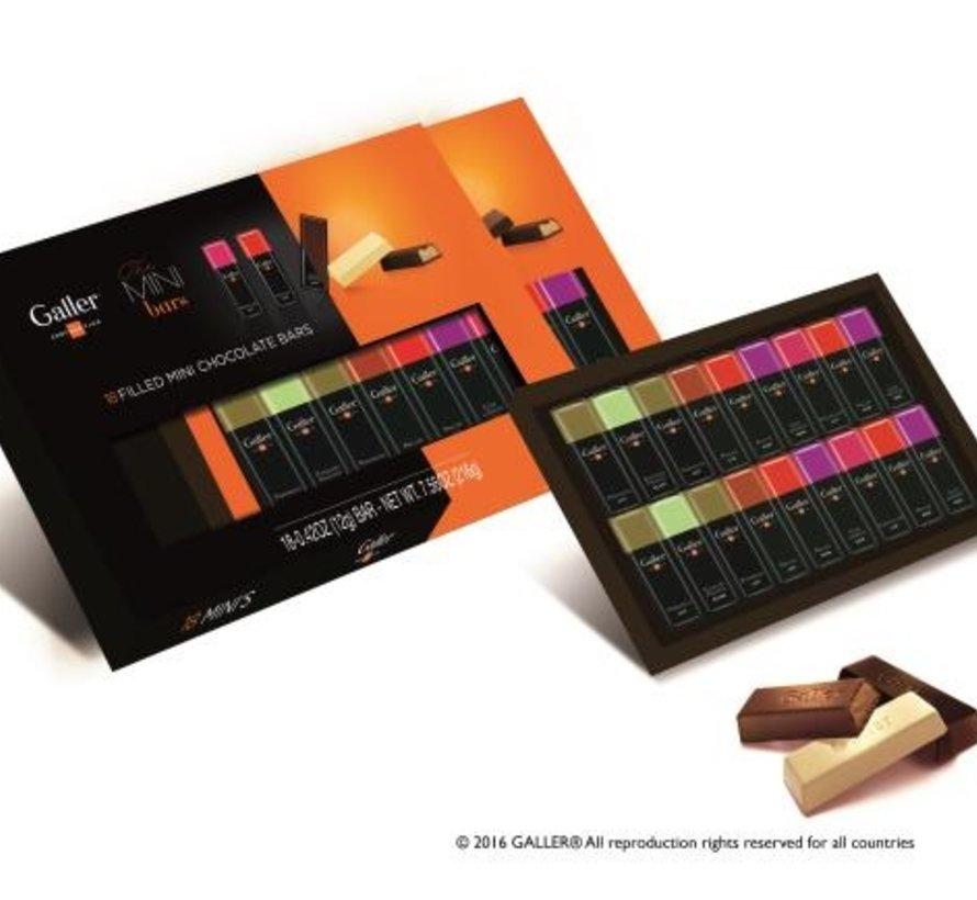 18 Mini Bars giftbox/ 216gr -Doos 11 stuks