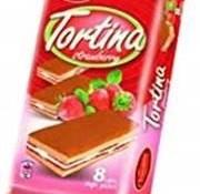 Tortina Aardbei Cakejes -Doos 12 stuks