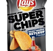 Lays Lays Super Chips Ketchup 215 gram -Doos 8 stuks