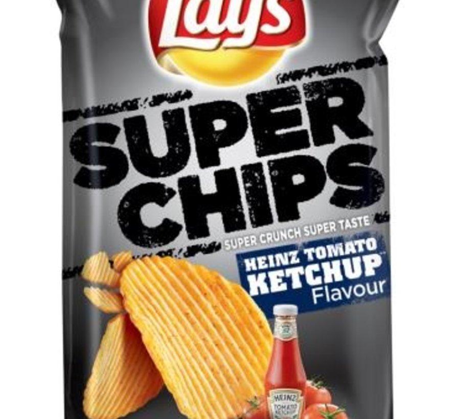 215gr Lays Superchips Ketchup -Doos 8 stuks