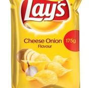 Lays Lays Chips Cheese Onion 175 gram -Doos 8 stuks