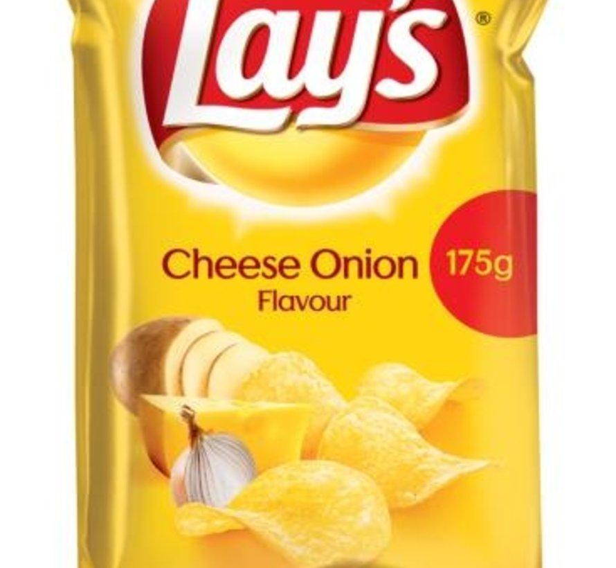 175gr Lays Chips Cheese Onion -Doos 8 stuks