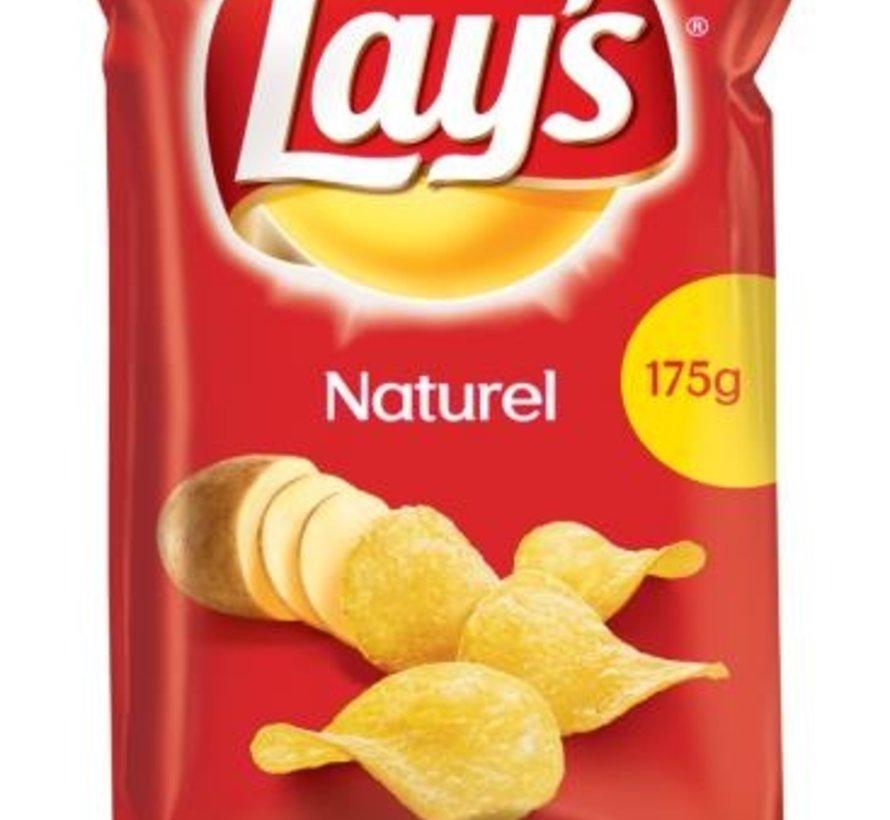 175gr Lays Chips Naturel -Doos 8 stuks