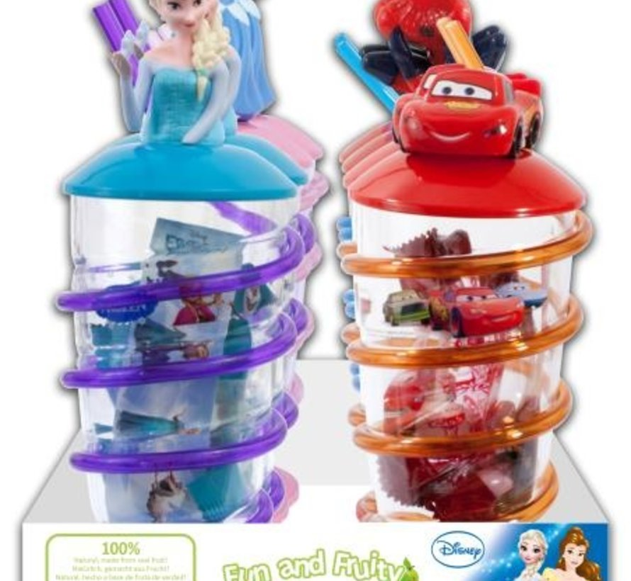 Fun And Fruity Disney Mix  Fruity Straw Cup Doos 8 Stuks