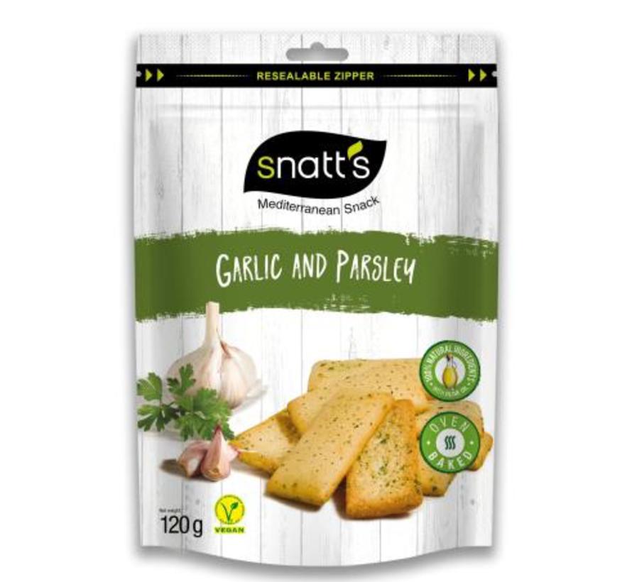 Snatts Snacks Garlic&Parsley -Doos 7 stuks