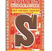 Tony'S Chocolonely Tony's Letter S Karamel Zeezout -Doos 15 stuks