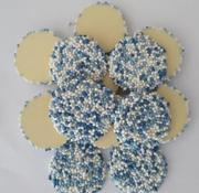 Van Geboorte Flik Witte chocolade Blauw -Doos 5 kilo