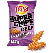 Lays Lays Super Chips Deep Sweet Chili 147 gram -Doos 9 stuks
