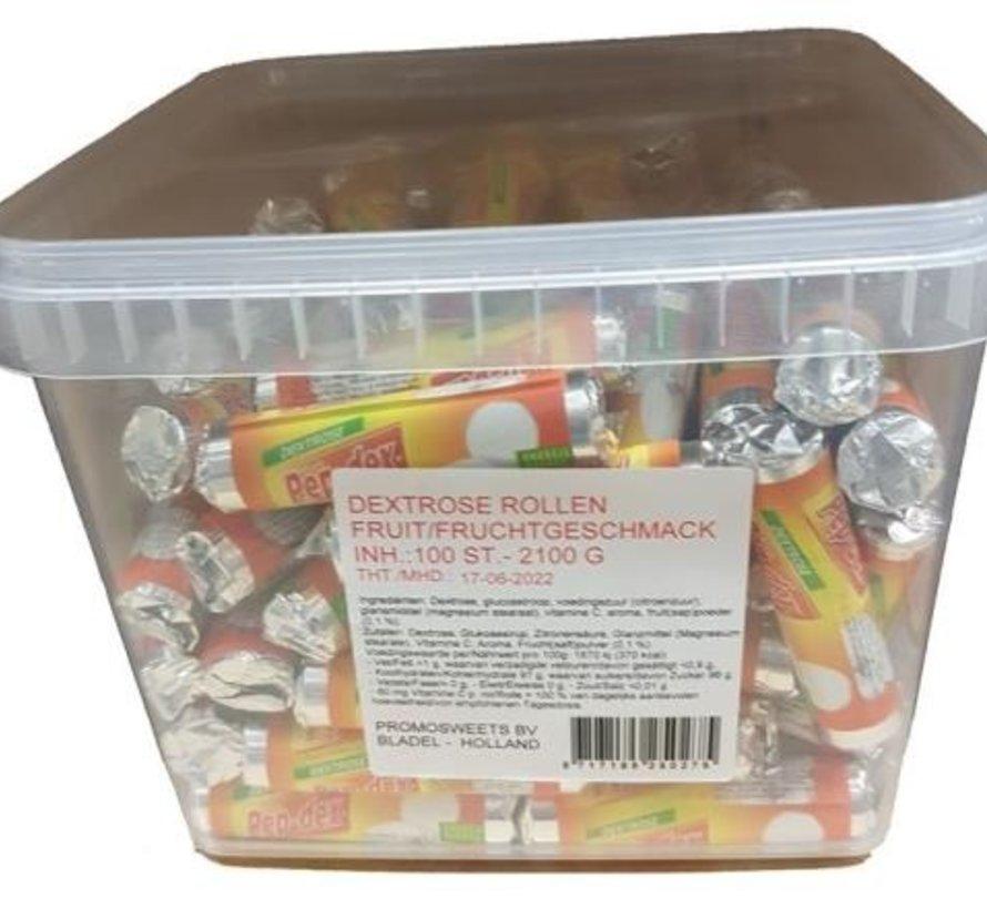 Box Fruitrolletjes Silo 100 Stuks