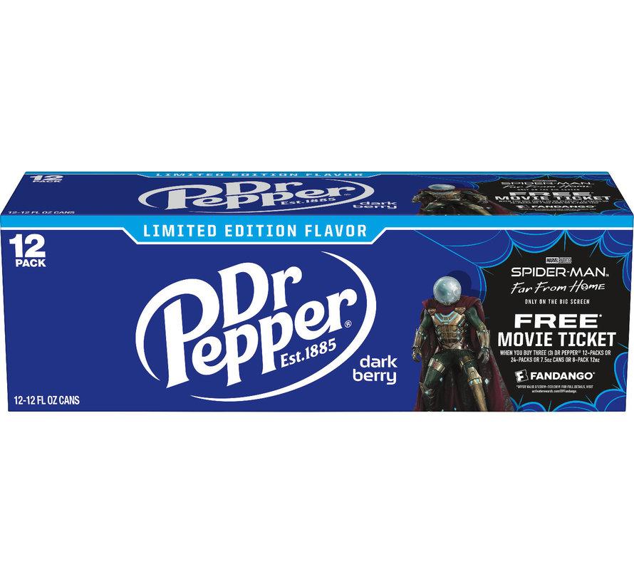 Dr Pepper Dark Berry -Tray 12 stuks