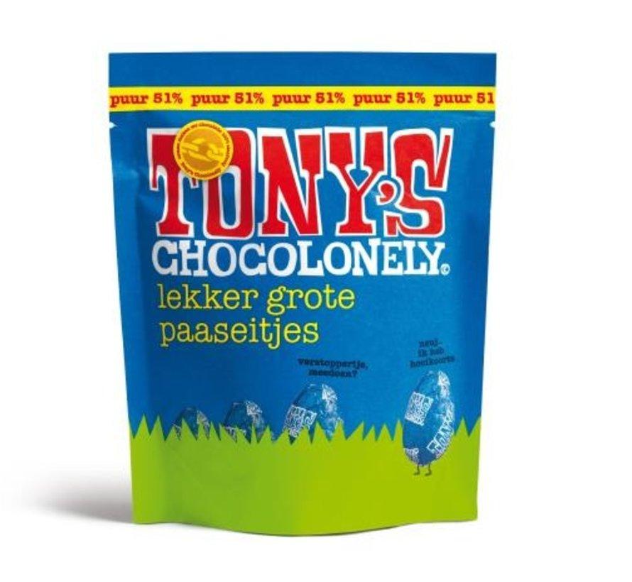 Tony'c Chocolonely Paaseitjes Puur -Doos 24 stuks