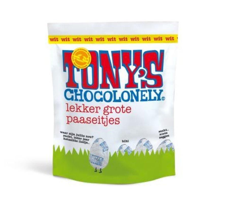 Tony's Chocolonely Paaseitjes wit -Doos 24 stuks