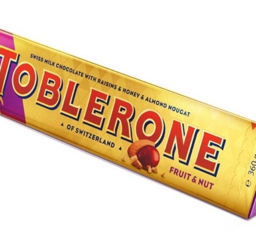 Toblerone 360 Gram! Fruuit & Nuts